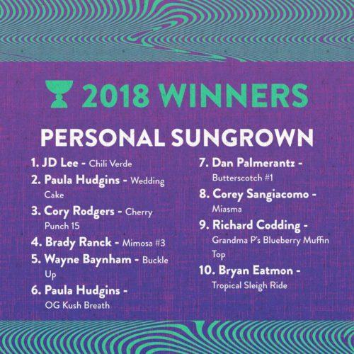 Personal Sungrown Winners