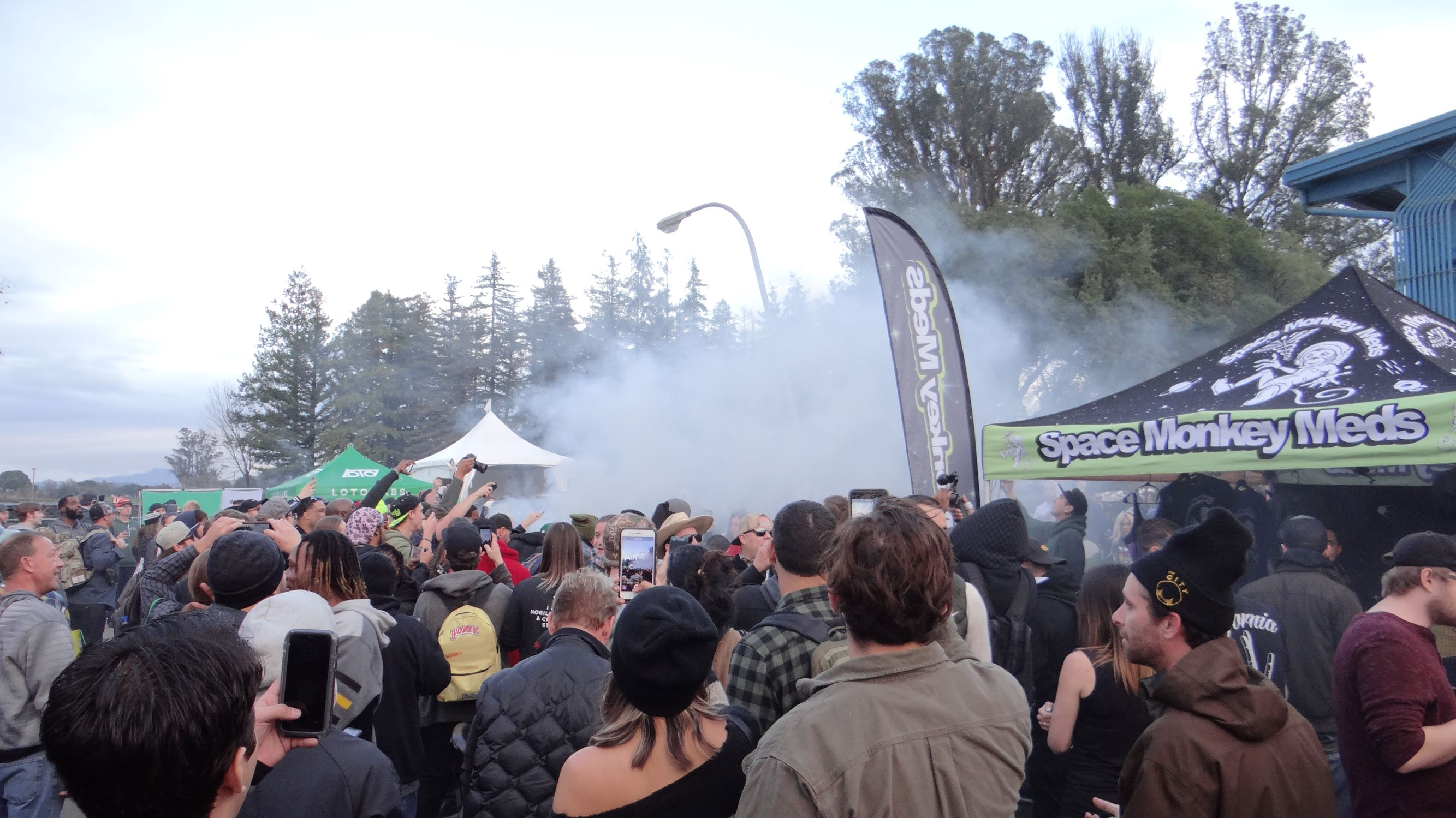 Blowing in the smoke!