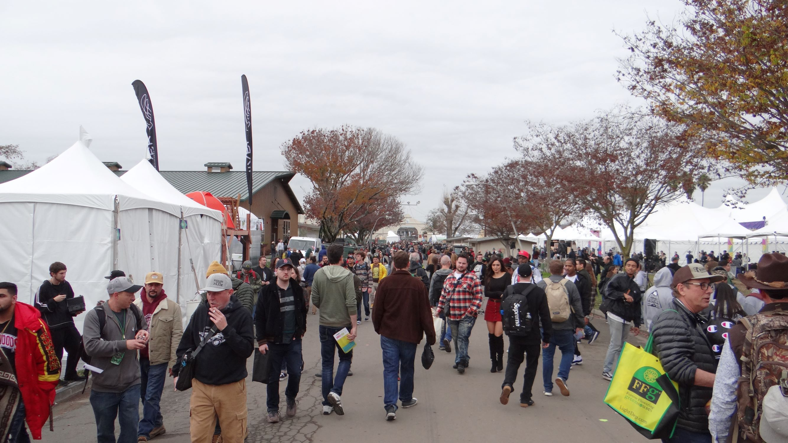 Packed fairgrounds on day one