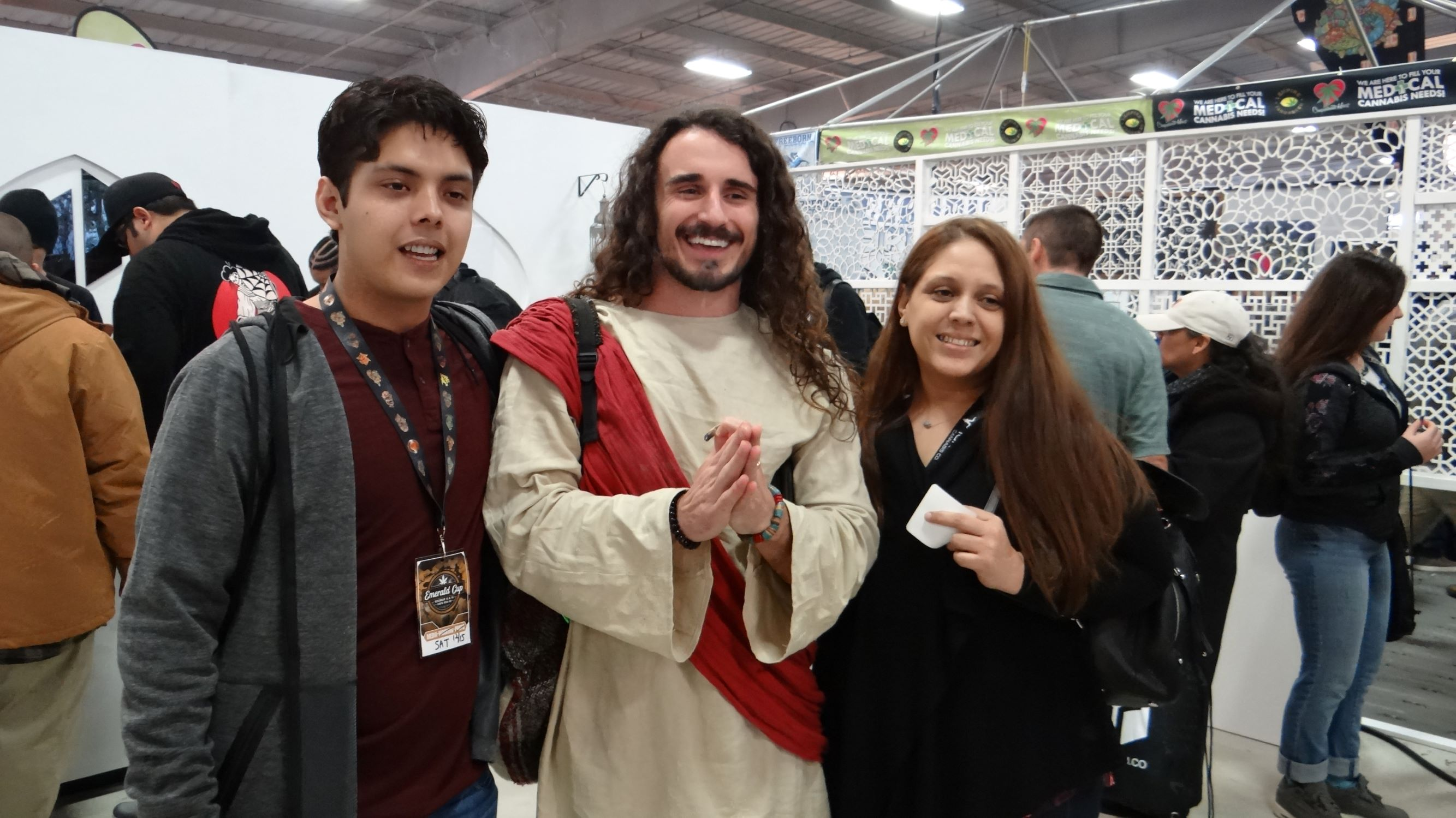 The weed Jesus with fans